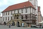 Oprava olomoucké radnice. Ilustrační oto