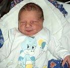 Tomáš Kalina, Šternberk, narozen 10. dubna ve Šternberku, míra 50 cm, váha 3140 g