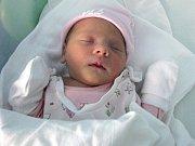 Anna Flajšarová, Hranice, narozena 12. dubna v Olomouci, míra 49 cm, váha 2600 g