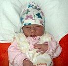 Alžběta Voglová, Olomouc, narozena 24. dubna ve Šternberku, míra 43 cm, váha 2330 g