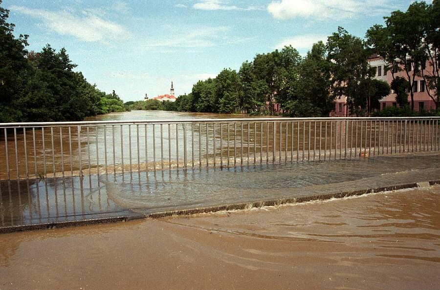Most v Komenského ulici, Olomouc, 9. července 1997