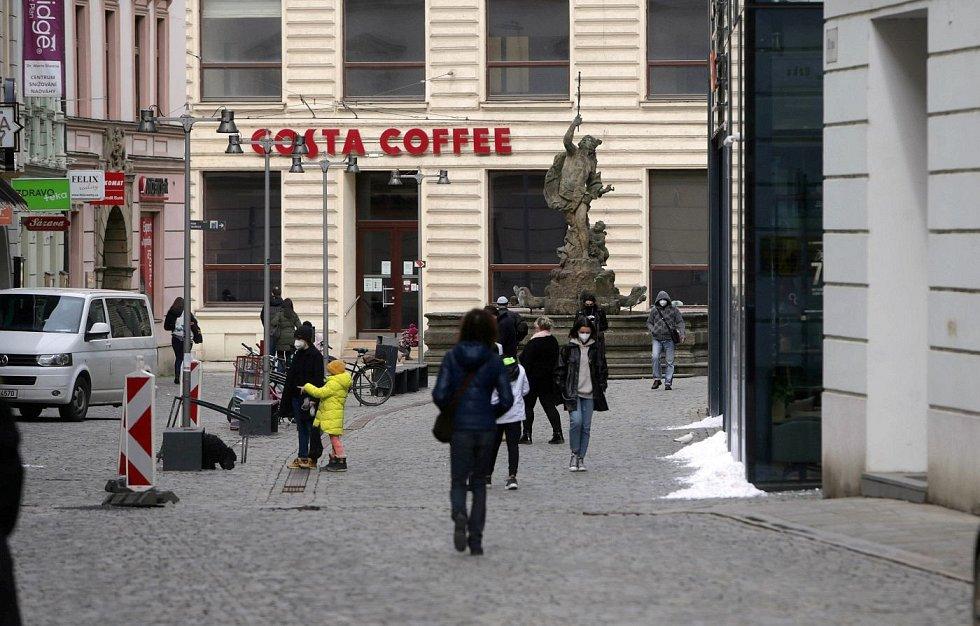 Centrum Olomouce, sobota dopoledne 13. března 2012