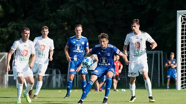 Sigma Olomouc porazila v přípravném utkání ve Slatinicích Hradec Králové 1:0.Mojmír Chytil