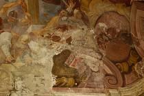 Barokní freska v boční kapli svatého Stanislava