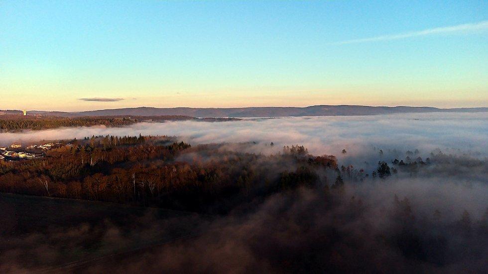 Mlha nad Olomoucí, 31. prosince 2020