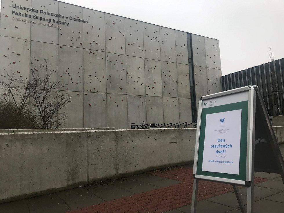 Den otevřených dveří na Univerzitě Palackého v Olomouci. FTK - centrum Baluo