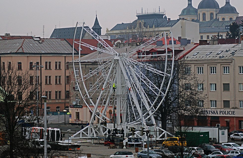 Demontáž ruského kola v Olomouci. 7. ledna 2020