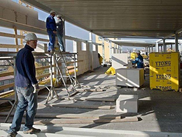 Přístavba dalšího patra na Střední škole polytechnické v olomoucké Rooseveltově ulici