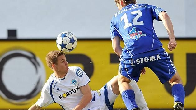 Sigma (v modrém) v souboji s Liberecem. Ilustrační foto
