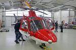 Vrtulník Agusta A109K2 společnosti ATE při představení nového provozovatele letecké záchranky v Olomouci