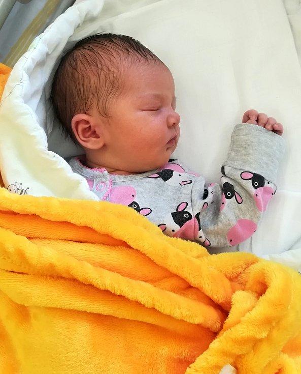 Valérie Anna Doležalová, Olomouc, narozena 22. června 2020, míra 51 cm, váha 3680 g