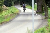 Cyklostezka mezi olomouckou částí Černovír a Hlušovicemi. Ilustrační foto