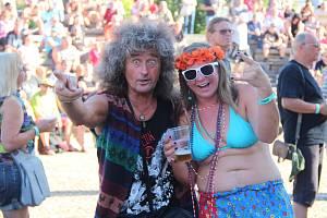 Festival Hanácké Woodstock nabídl bigbít i pivo.