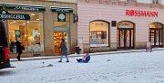 Zasněžená Olomouc 16. ledna 2018