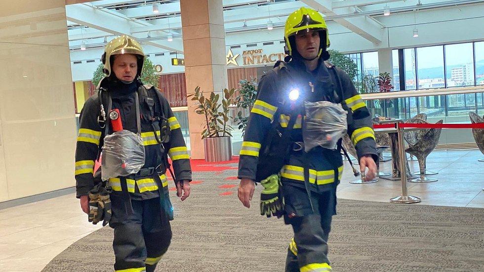 Požární poplach v olomoucké Šantovce, 16. 2. 2020