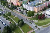 Rozšíření tramvajové trati na Nové Sady a do Slavonína. Vizualizace křížení Rooseveltova - Zikova ulice