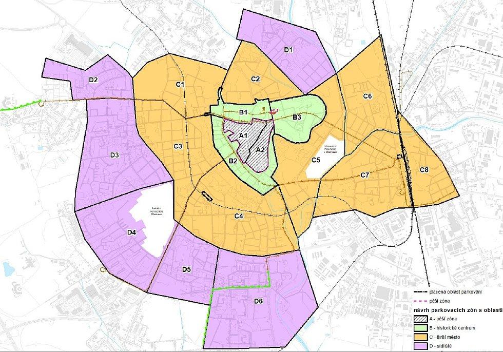 Návrh parkovacích zón v rámci nové parkovací politiky v Olomouci