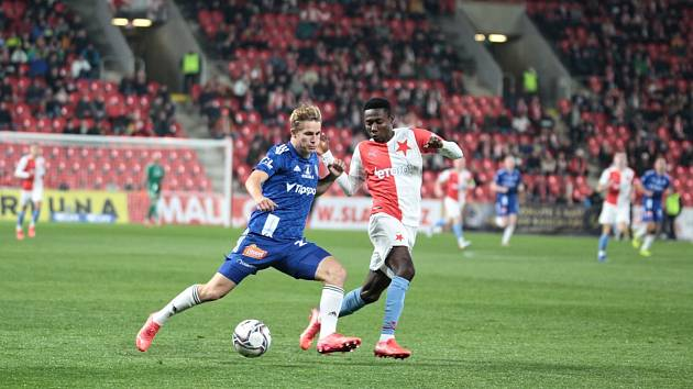 Slavia si v dohrávce v Edenu poradila s Olomoucí 1:0.