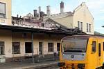 Demolice části nádraží ve Šternberku. 20. 8. 2019