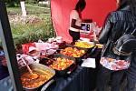 Nabídka jídla z Ugandy.