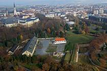 Areál Korunní pevnůstky v centru Olomouce. Ilustrační foto