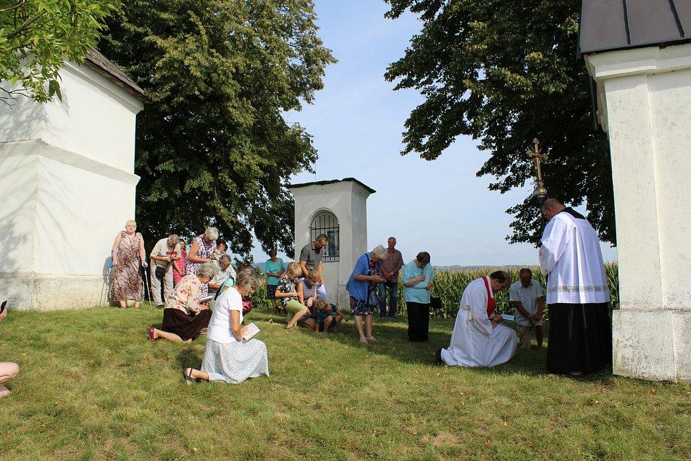 Křížová cesta v Mladějovicích, pouť na Kalvárii, která se uskutečnila 13. září 2020.