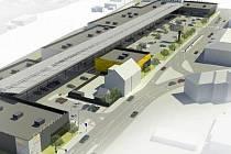 Nákupní park Bělidla - vizualizace návrhu
