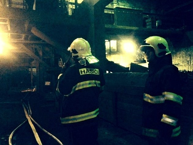 Požár tavící pece v železárnách v olomoucké čtvrti Řepčín