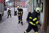 Požár v Radniční ulici ve Šternberku