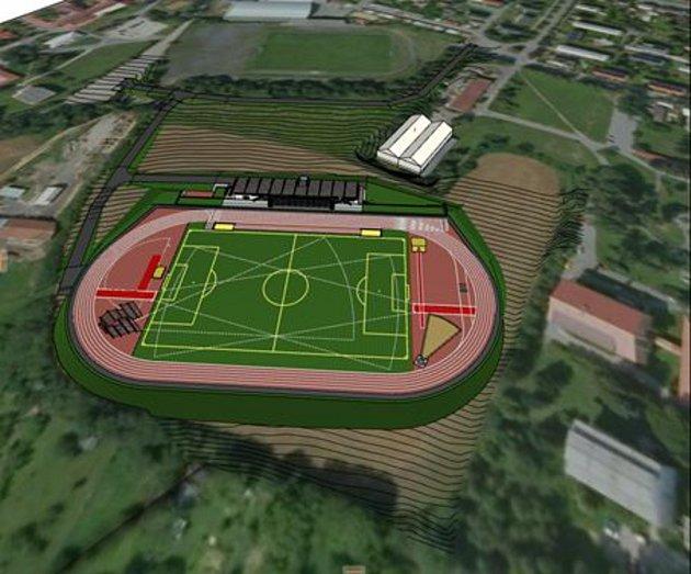 Město Šternberk plánuje výstavu špičkového atletického stadionu.