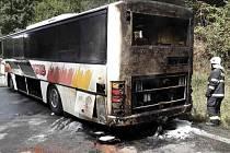Požár autobusu na Mohelnickém kopci, 29. srpna 2021