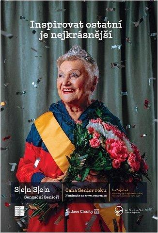 Vizuál Ceny Senior roku 2021 - tváří se stala vítězka předchozího ročníku Eva Trejbalová