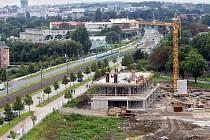 Stavba Inovačního centra a vysokoškolského kampusu u třídy Kosmonautů