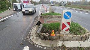 Havárie opilého řidiče felicie v Unčovicích