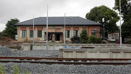 Modernizace regionální trati v Olomouckém kraji.Železniční stanice Bohuňovice.