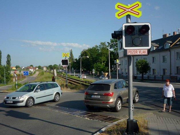 Přejezd ve Svatoplukově ulici