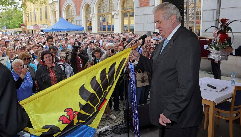 Prezident Zeman v Šumperku