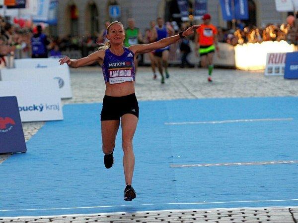 Nejrychlejší Češka Olomoučanka Petra KamínkováOlomoucký půlmaraton 2015