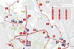 Trasa olomouckého půlmaratonu 2018