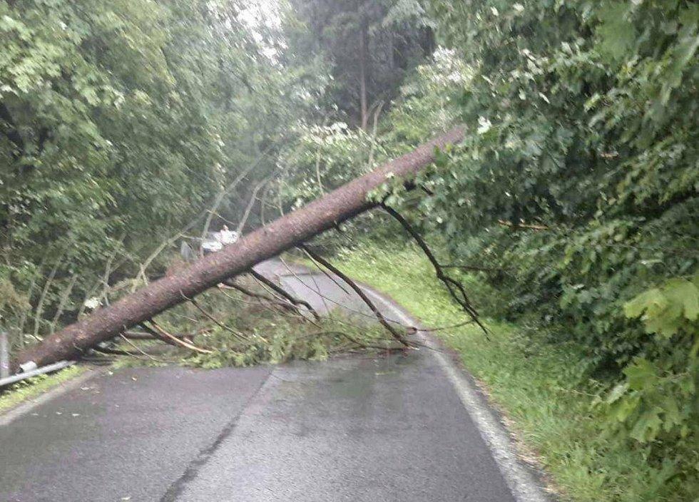 Následky silných bouřek ve čtvrtek 13. června na Šumpersku.