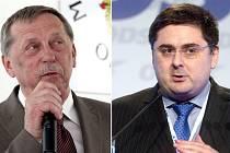 Bývalí olomoučtí primátoři Martin Tesařík (ČSSD) a Martin Novotný (ODS)