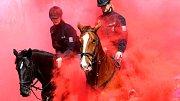 Policejní koně při ukázce výcviku. Ilustrační foto