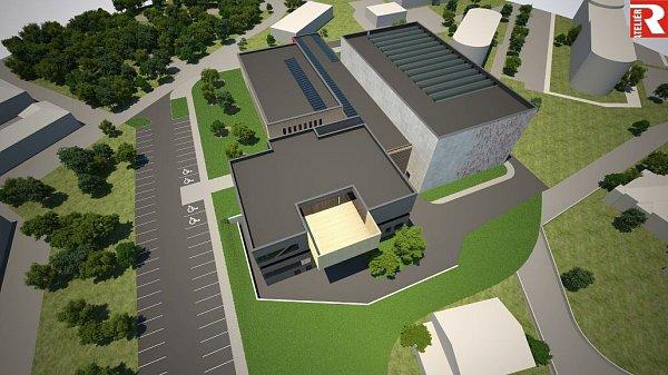 Vizualizace nového kampusu FTK UP vOlomouci - Neředíně