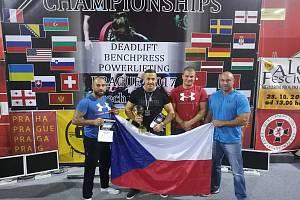 Olomoučtí siloví sportovci zápolili na mistrovství světa v silovém trojboji federace WUAP v Praze