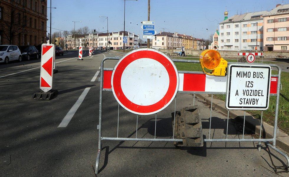 Uzavírky kvůli protipovodňovým opatřením v okolí mostu u Bristolu v Olomouci