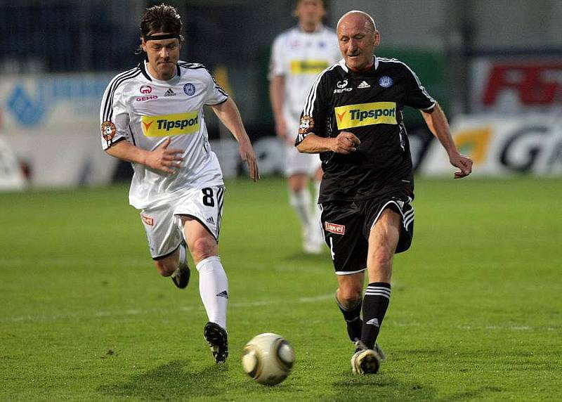 Jiří Barbořík (v bílém) a Jiří Navrátil