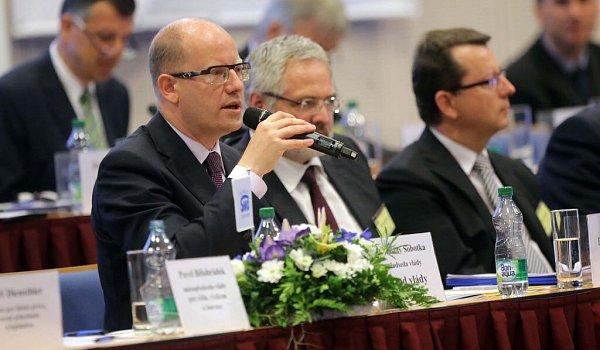 Premiér Bohuslav Sobotka na sněmu Svazu měst a obcí vOlomouci