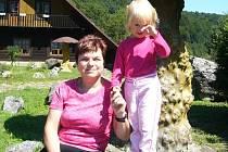 Hana Zittová na výletě s vnučkou