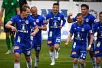 Fotbalisté Olomouce prohráli doma s Příbramí 1:2. radost Lukáš Juliš, Radim Breite