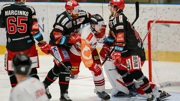 Olomoučtí hokejisté v rámci 43. kola Tipsport extraligy hostili Třinec.